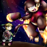 Diddy Kong Vs Toon Link by Twin-Cats