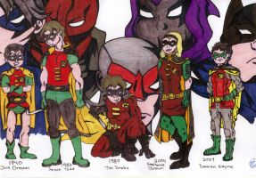 Robin Through the Ages by cometbab