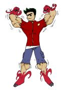 muscle american dragon by chocomus