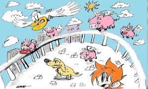 Zack: If pigs can fly in color concept by Armonsterz