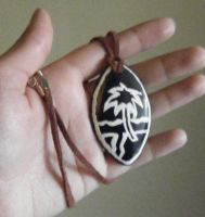 Guam Hand Painted Pendant Necklace by ChibiSayuriEtsy