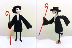 Plague Doctor Puppet by TRAVALE