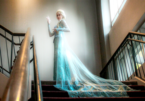 Elsa the Snow Queen by tangledinthread