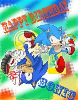 Happy 21st Birthday Sonic by SEGAmastergirl