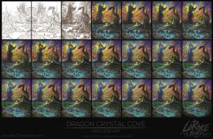 Dragon Crystal Cove - Process by artsoldier77