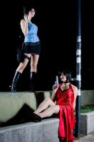 Ada Wong and Jill Valentine by selenevamp