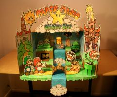 Yahoo! Paper Mario Sticker Star diorama by TOYspence