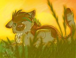 .:Lieing in the sunset:. by Shadow-Corgi