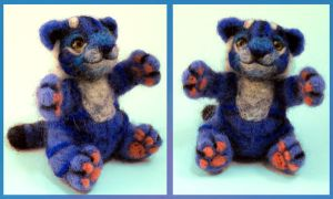 Blue Tiger Doll by Sukeile