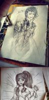My Pencil/Pen Drawing Compilation` by Nawaru