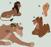 Adult Lion adopts 1 ~CLOSED~ by Cece-Edgars-Sister
