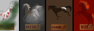 The 4 Horses of the Apocalipse by Redbell9