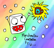 Marshmallow Cannibalism by Caninerz