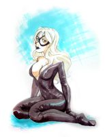 Black Cat lady - commission by Moemai