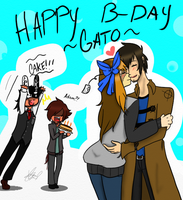 [OCs] Happy BDay Gato by ChaoticPuppetMaster