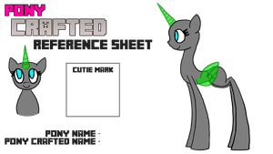 Pony Crafted Reference Sheet Base by AlicornOverlord