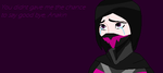 You never gave me the chance by LordVaderNihilus