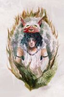 Mononoke Hime by armainnef