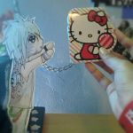 Dahvie Vanity Paperchild and Hello Kitty by xXDG-Twist360xX