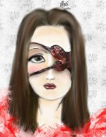 gothic girl face by gr8lady