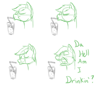 Da Hell Am I Drinking? (Comic) by Whibbleton