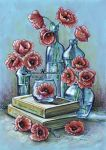 Bottles and poppies by dh6art