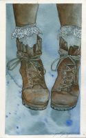 Boots Watercolor by Bandera88