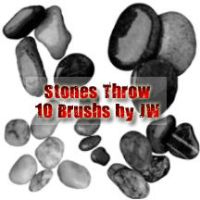Stones Throw Photoshop Brushes by JAWorley