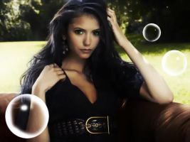 Dark Haired Nina Dobrev by youremylifenow