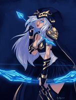 Collab LoL: Ashe - Happy B-day Ragora! by Shunkaku
