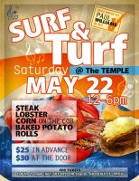 Surf and Turf Poster by AnotherBcreation