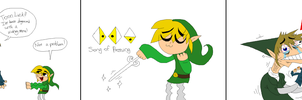 Link vs Toon Link by SHITFORBRAINSCHAN