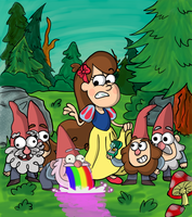 Snow Mabel and the Seven Gnomes by Code-E