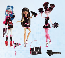 MH Ghoulia,Cleo and Draculaura by mh-maria