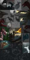 d's 2014 Wips and Sketches I by dschunai
