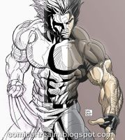 HOW TO DRAW WOLVERINE USING REAL LIFE REFERENCE by sektujai