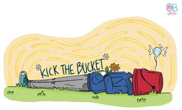 idioms pt.3 - Kick the bucket by Turquoise-luck