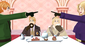 MMD Hetalia - Tea Time by PikaBlaze