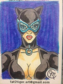 Catwoman DC sketch card by tat2tiger