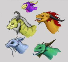 draguns by All-Crazy-Reptiles