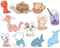 Animal Stickers by Mousu