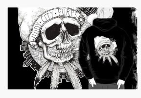 SKULLCITY CUSTOM ORDERED HOODY - PREVIEW by psychosisblazee