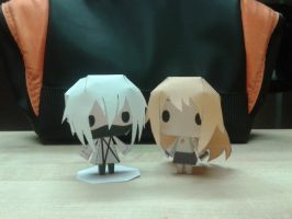 Ginny and Ruka Papercraft Dolls by Waldo-xp