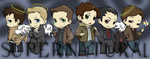 Supernatural chibies by DeanGrayson