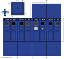 11th Doctor's Tardis - Paper Model by MrArinn by MrArinn