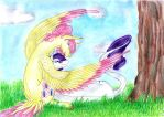 Under the tree 2 by Dawn22Eagle