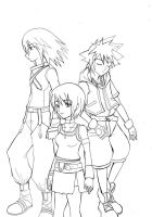 kingdom hearts by kairikazu