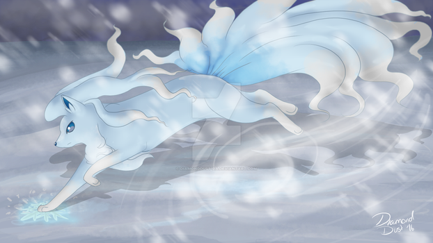 Ninetales Alola Form - Weekly Competition #5 by DiamondDust-DA