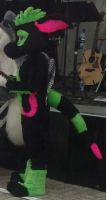 mr.bubbles in action by FurryFursuitMaker