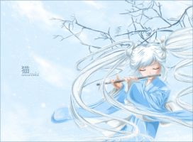 Winter. Flute. by Kaggra